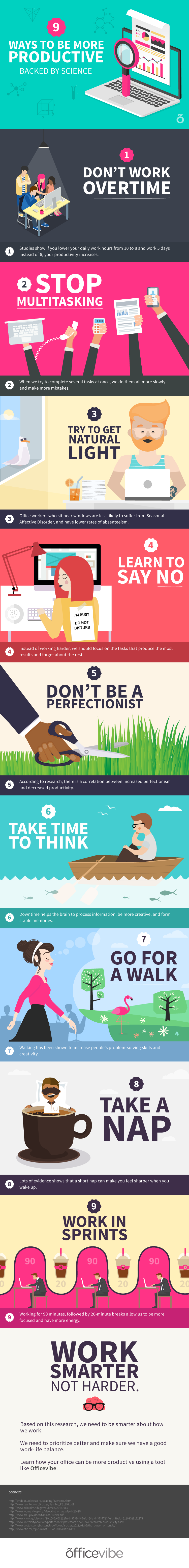 9 Ways To Be More Productive (Infographic)