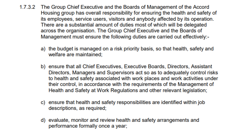 safety procedures and budget